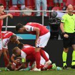 Christian Eriksen, jugador de Dinamarca, se desplomó en pleno partido de la Eurocopa (Video)